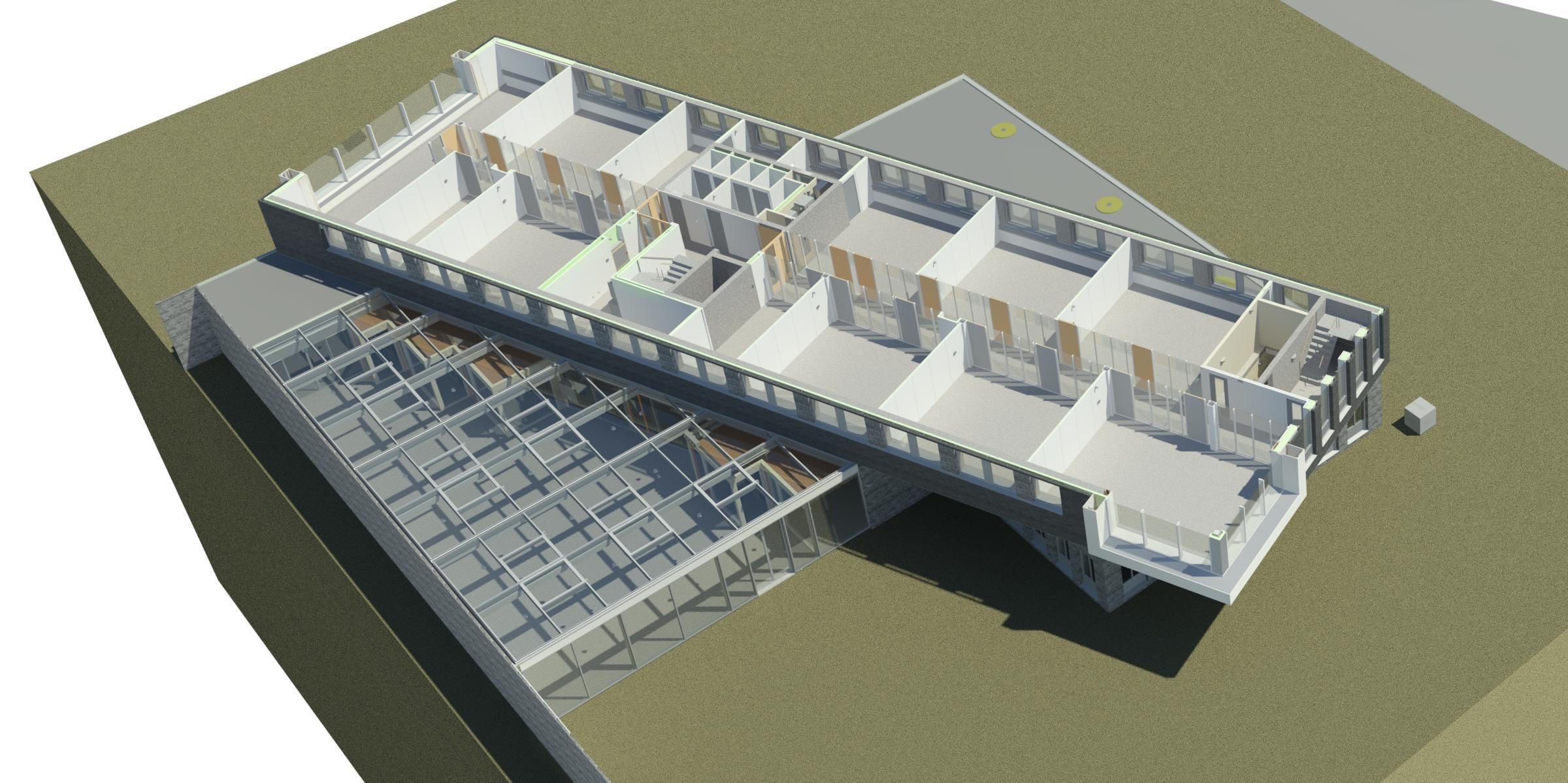 3d model kantoor 28 1e verdieping