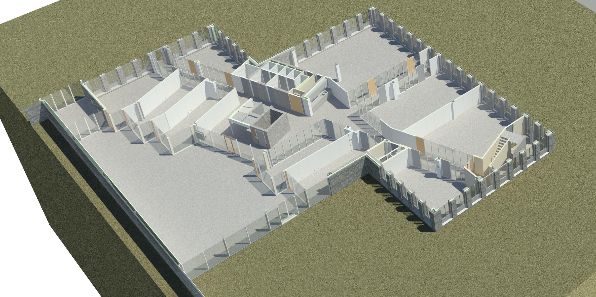 3d model kantoor 28 begane grond